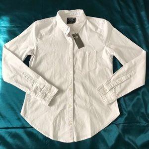 Abercrombie white oxford shirt
